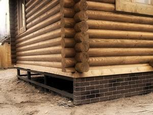Ремонт фундамента деревянного дома в Вологде