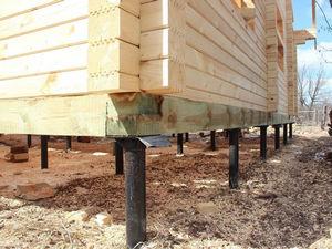Ремонт фундамента деревянного дома под ключ